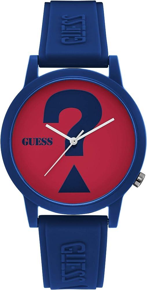 Guess ,orologio solo tempo unisex,cinturino in silicone,cassa in policarbonato V1041M4