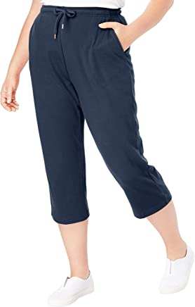 Woman Within Women's Plus Size Sport Knit Capri Pant