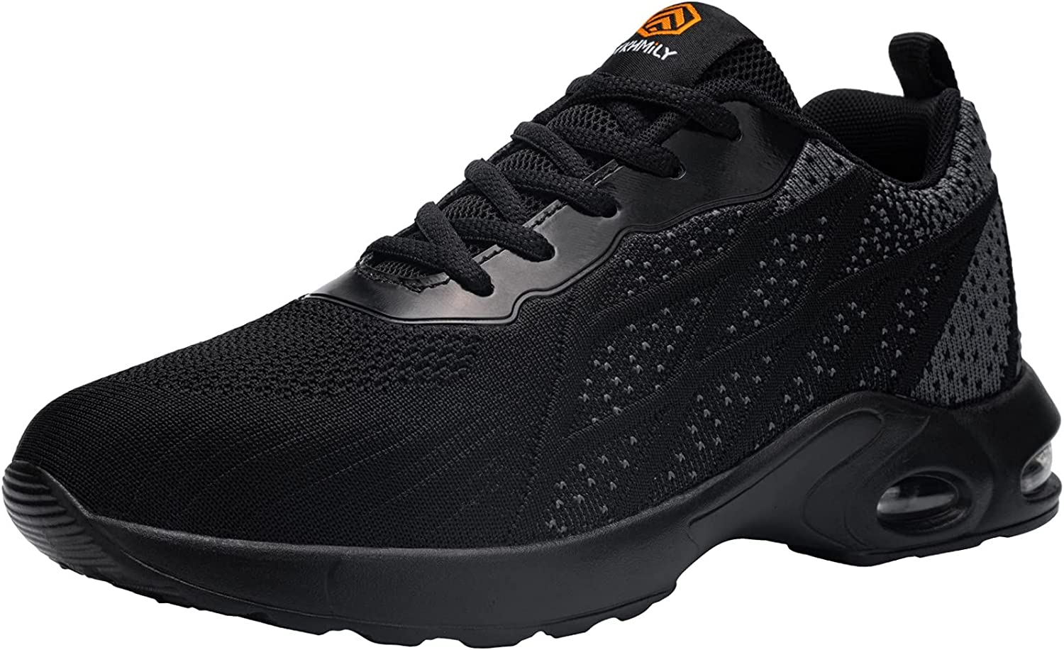 FENLERN Steel Toe Shoes for Men Safety Air Cushion Shoes Water Resistant Lightweight Sneakers Slip Resistant Safety Toe Shoes Indestructible Work Shoes