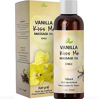 Vanilla Erotic Massage Oil for Sex Edible Massage Oil and Lubricant for Sensual Massage and Natural Calm Aromatherapy Almond Jojoba and Coconut Oil Anti-Aging Moisturizing Skin Care & Back Pain Relief