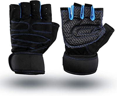 Serveuttam Weight Lifting Gym Gloves with Wrist Wrap Support for Men & Women Full Palm Protection Workout Exercise Gloves for Power Lifting, Cross fit, Training