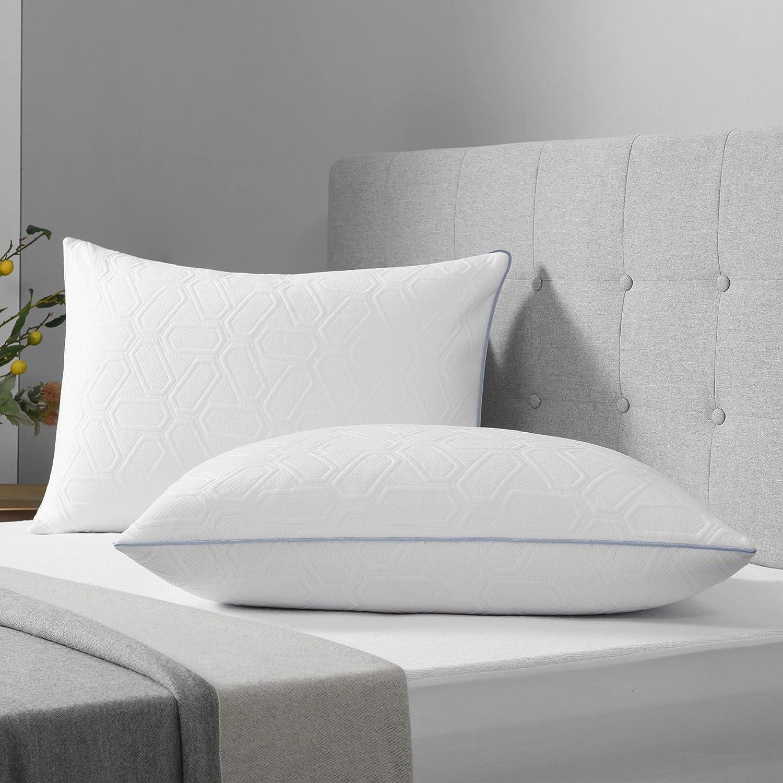 LOVTEX Bed Atlanta Mall Max 89% OFF Pillows for Sleeping Bamboo Standard Set Size