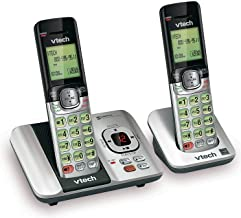 VTech CS6529-2 DECT 6.0 Phone Answering System with Caller ID/Call Waiting, 2 Cordless Handsets, Silver/Black (Renewed) photo