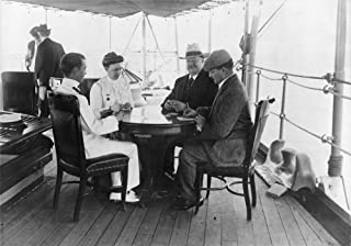 William Howard Taft N(1857-1930) 27Th President Of The United States Taft And His Wife Helen And Two Men Playing Cards On A Ship En Route To The Philippines Photograph C1900 Poster Print by (18 x 24)