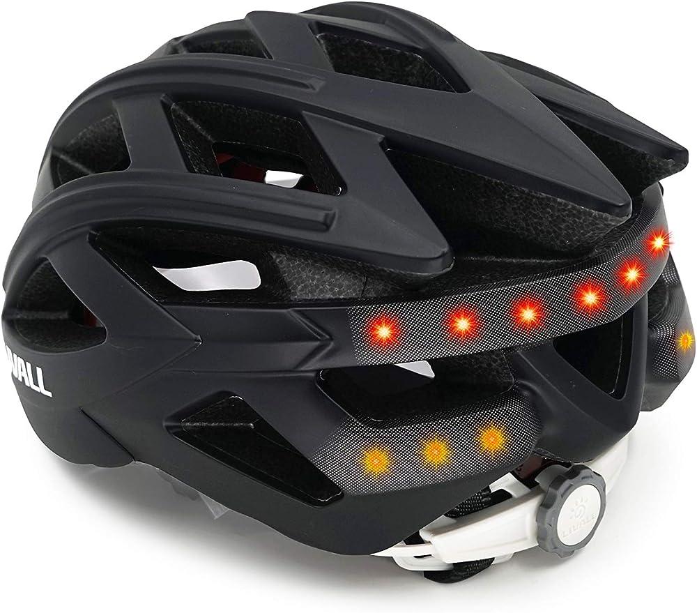 Livall casco da bicicletta unisex a led stereo con altoparlanti e microfono bluetooth in policarbonato 32001005