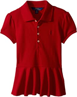 Polo Ralph Lauren Kids - Cotton Peplum Polo Shirt (Little Kids)