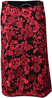 INC International Concepts Women's Plus Size Floral Embroidered Shell