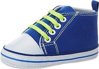 Playshoes Baskets Lacets, Chaussures Premiers Pas Garçon