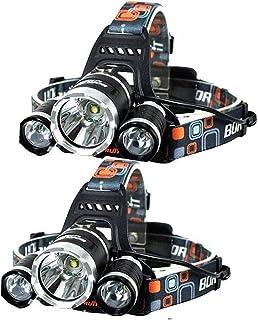 NEWEST And BEST Version Headlamp, Brightest LED Headlamp 20000 Lumen Flashlight IMPROVED LED, Rechargeable 18650 Headlight...
