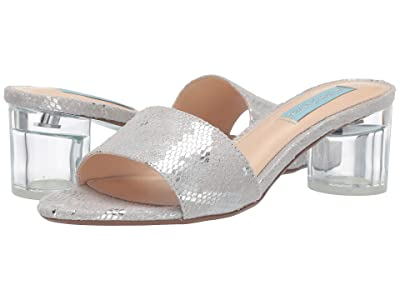 Blue by Betsey Johnson Alani Mule (Silver Snake) Women