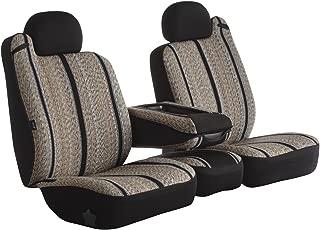 Fia TR48-26 BLACK Custom Fit Front Seat Cover Bucket Seats - Saddle Blanket, (Black)