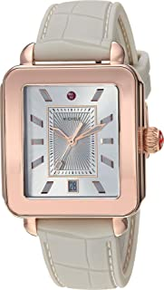 michele rose gold deco watch