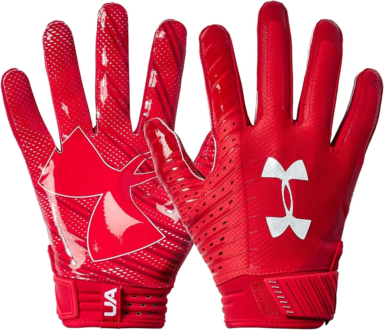 Under Armour Spotlight NFL RED Men's Football Receiver Gloves Size Large