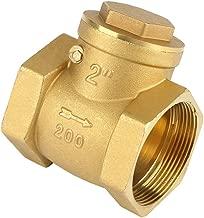 Akozon One-Way Check Valve DN50 Female Thread Brass Non-return Swing Check Valve 232PSI Prevent Water Backflow