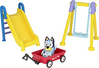 "Bluey Park Playset 2.5"" Figure, Wagon, Swing Set, and Slide"