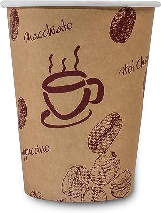 Funny Coffee-to-go Becher 300 ml, braun, 50 Stück preisvergleich bei geschirr-verleih.eu