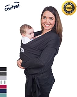 Black Babycarrier Sling Wrap by Cozitot | Stretchy All Cloth Baby Carrier | Baby Carrier..