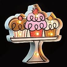 IMIKEYA Led Neon Borden Cupcake Verlichting Decoratieve Licht Up Marquee Muur Ornament Vintage Art Night Lights Indoor Voo...