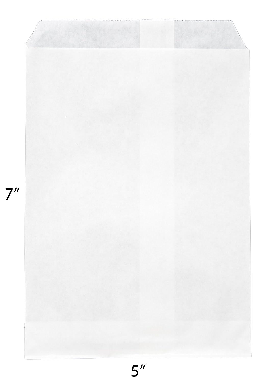 Novel Box? Plain White Print Paper Gift Candy Jewelry Merchandise Bag Bundle 5X7