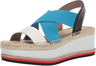 Donald J Pliner Women's AUDREY-01A Wedge Sandal Off White/azul 7.5 B US