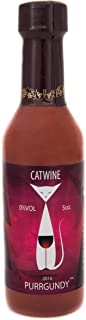 Pet Winery CatWine - 5 Ounce, Multiple Serving Bottle of Purrgundy All-Natural Catnip Wine - Non-Alcoholic, Liquid Catnip Treat | Use As Food Topper, Freeze, or Drink As Is | Cat Treat (1 Bottle)