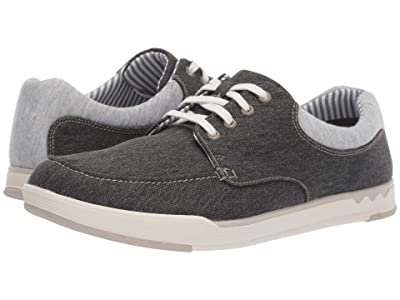 Clarks Step Isle Lace (Black Canvas) Men