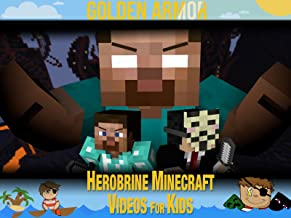 Clip: Golden Armor - Herobrine Minecraft Videos for Kids