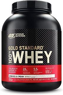 OPTIMUM NUTRITION, 100% Whey Gold Standard, Cookies & Cream, 5lbs