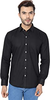 MANQ Men's Solid Slim Fit Formal/Party Shirt - 2 Colors