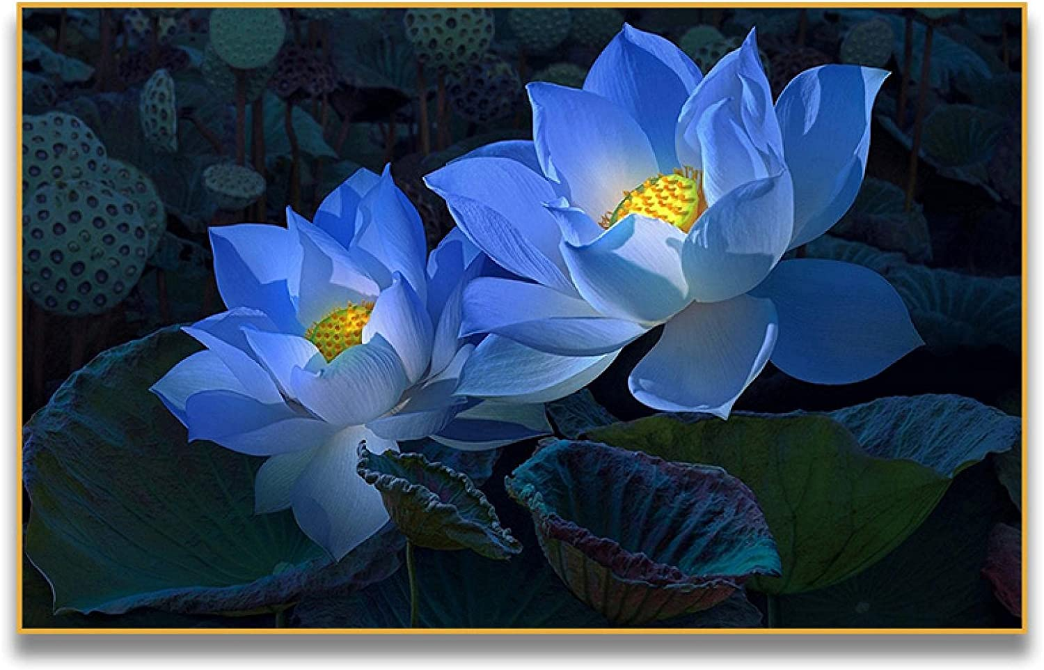 KMMK Canvas Paintings Pink Lotus Bedro unisex Max 71% OFF Flower Prints and Posters