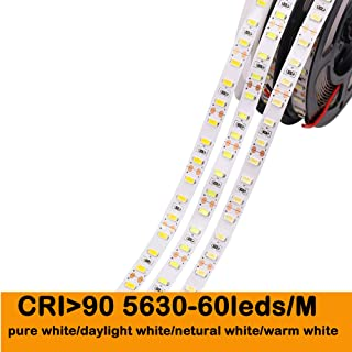 MARSWALL CRI 90+ LED Strip Lights SMD5630 Non-waterproof 5600K-Daylight White DIY LED Panel Light for Camera Photographer