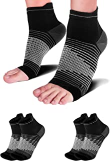 Compression Socks Plantar Fasciitis (2 Pairs) with Arch Support for Women & Men, Heel Compression Sleeve. Relieves Joint Pain, Heel Spur, Sprains, Swelling. Black L