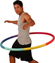 Sports Hoop Weighted Hoop, Weight Loss Trim Hoop 3B - 3.1lb (41 inches Wide) Large, Weighted Fitness Exercise Hoop with No...