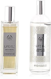 The Body Shop Life Is Set Of 4 Pieces Perfume Eau de Toilette 50ml With Shower Gel 250ml & Body Lotion 250ml & Body Mist 1...