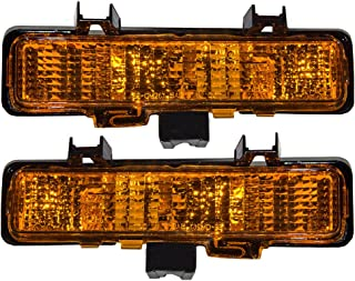 Replaces 929918 929917 ; Fits 1982-1993 Chevrolet S10 Pair Driver and Passenger Side Turn Signal//Side Marker Light Lens and Housing Only GM2551108 GM2550116
