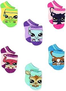 Littlest Pet Shop LPS Girl's Toddler Women's No Show 6 Pack Socks