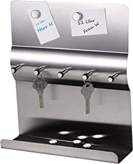 comprar comparacion Tablero para colgar llaves, acero inoxidable, con placa imantada, 24 x 24 x 7 cm
