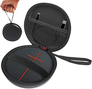 FitSand (TM) Carry Portable Travel Zipper Protective EVA Hard Case Cover Bag Box for UE ROLL 2 Volcano Wireless Portable Bluetooth Speaker(I and II 2 Gen) - Fits USB Cable