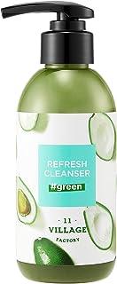 VILLAGE 11 FACTORY リフレッシュ クレンザー グリーン 185g (泡に変わる ジェル 洗顔フォーム 毛穴 皮脂 角質 ケア 蒟蒻スクラブ 配合) Refresh Cleanser Green