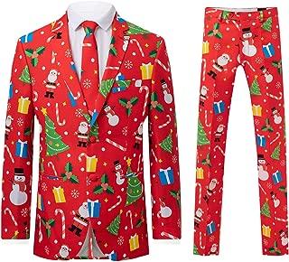 d/Spoke Mens Red Festive Fun 2 Piece Christmas Suit