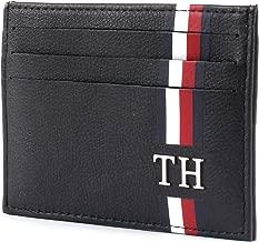 Tommy Hilfiger Card Holder for Men, Leather - Navy