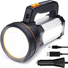 Airmsa Krachtige oplaadbare zaklantaarn Lantaarn 8000 lumen Super heldere waterdichte zaklamp Spotlight Draagbaar LED-zoek...