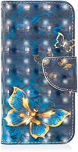Galaxy J4 Plus Case, Bear Village® 3D Creative Printed PU Leather Magnetic Flip Folio Wallet Cover with ID and Credit Card Pockets for Samsung Galaxy J4 Plus (#8 Butterfly)