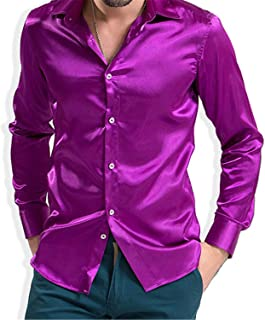 sports shoes 3ba6d 5808e Amazon.it: camicia raso uomo - Viola