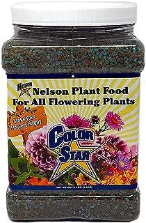 Nelson Plant Food For All Flowering Plants Annuals Perennials Bulbs Shrubs Indoor Outdoor Granular Fertilizer Color Star 19-13-6 (4 LB)