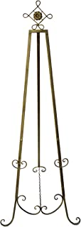 Designstyles Decorative Metal Easel Stand – Adjustable Floor Display for Art Pieces, Signs, Mirrors and Chalk/Dry Erase Boards - 61.5