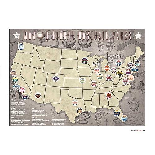 Major League Baseball Map: Amazon.com
