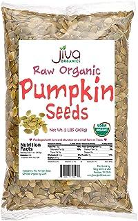Jiva Organics Organic Pumpkin Seeds 2 Pound Bulk Bag - Pepitas, Sproutable, 100% Natural & Raw