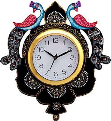 Kabir Art Peacock Wall Clock KA604