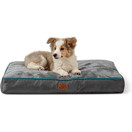 Bedsure Medium Dog Bed for Medium Dogs Cats, Dog Bed Pillows - Up to 50lbs, Waterproof Dog Beds with Removable Washable Cover, Pet Bed Mat, Grey